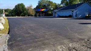 Paved Gas Station